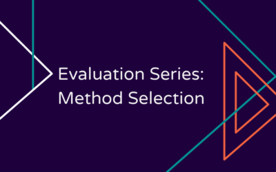 Evaluation Series: Method Selection