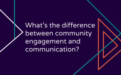 What's the difference between community engagement and communication?