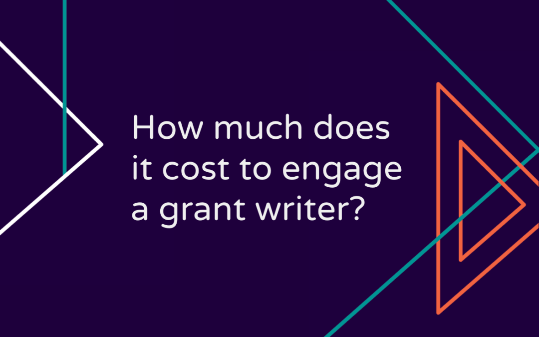 How much does it cost to engage a grant writer?