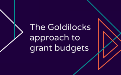 The Goldilocks Approach to Your Grant Budget
